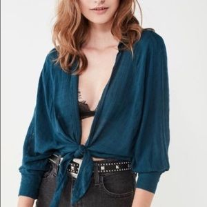 Urban Outfitters Tie-front Open Blouse
